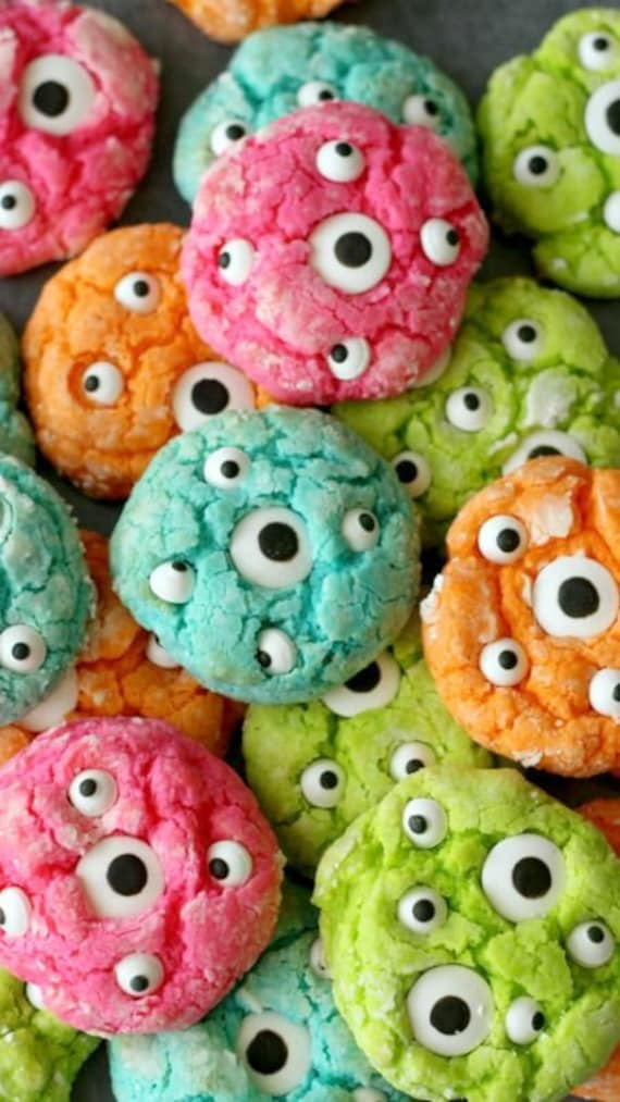 Friendly Google-Eye Monster Cookies
