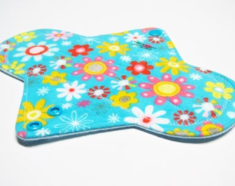 "9"" Flannel Cloth Menstrual Pad/ Incontinence Pad/ Reusable Pad - Customize Your Pad by choosing your Fabrics and Backing"