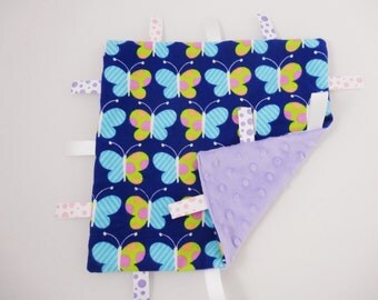 Baby Gift for Girl Butterfly Tag Blanket Baby Girl Gift