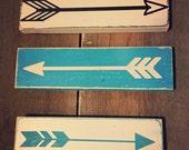 Arrow signs - rustic wooden arrow