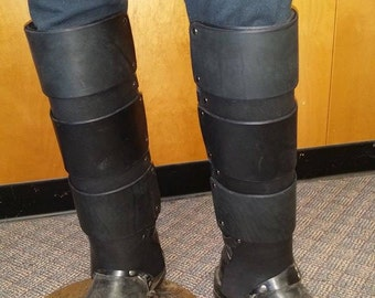 Leather Armor Banded Greaves