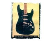 David Gilmour Pink Floyd guitar art print / music gift / rock n roll art / music room decor / guitar gift / man cave art
