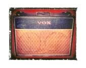 VOX  guitar amp  art print / music gift / rock n roll art / music room decor / guitar gift / man cave art