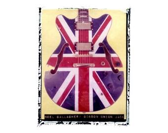 Oasis Noel Gallagher guitar art print / music gift / rock n roll art / music room decor / guitar gift / man cave art