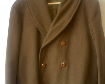 1940s WWII Peacoat Military Coat Mens 42 Vintage Mens Outerwear
