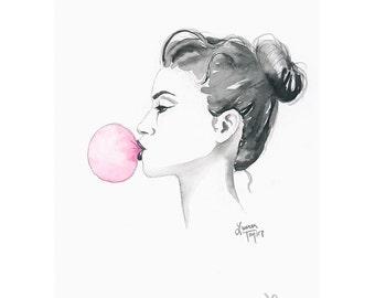 Bubblegum Giclee Print