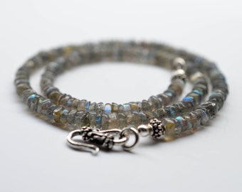 Choker Necklace, Labradorite & Sterling Silver, Natural Gemstone and Sterling Silver Jewelry