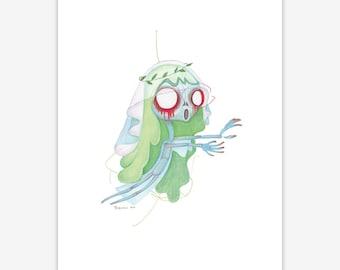 Banshee Mythical Creature Print A5