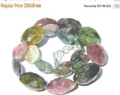 20%off. 20 Percentoff. 8 Inches Long Strand Natural Multi Tourmaline Faceted Nuggets Tumble Size 12-25mm Approx. Great Item- Free shipping
