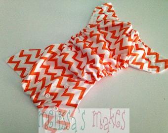 Orange Chevron - Swim Diaper - Fabric Swim Diaper - Boys Swim Diaper - Girls Swim Diaper - Baby Shower Gift - Reusable Swim Diaper