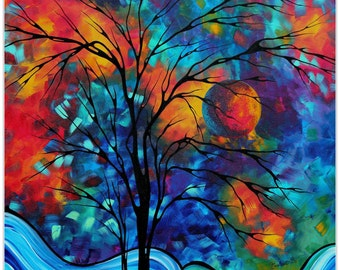 Landscape Painting 'A Secret Place' by Megan Duncanson - Abstract Tree Art Contemporary Modern Art on Metal or Acrylic