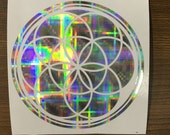 Seed of life Decal on 8-bit Holographic