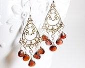 Watermelon Tourmaline Chandelier Earrings, Sterling Silver dangle earrings, wire wrap,pink gemstone fine earrings, holiday gift for her,3269