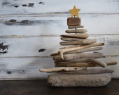 Small Rustic Tabletop Nautical Driftwood Tree