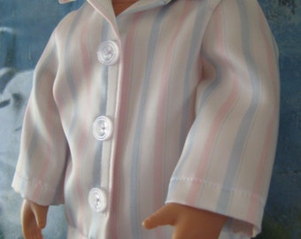 18 inch Doll Clothes American Girl -  Striped Silky Pajamas, PJs