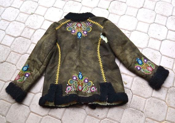 Vintage brod en peau de mouton afghan veste manteau penny - Nettoyer peau de mouton ...