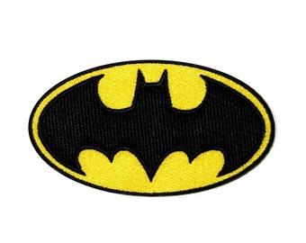 Batman Bat Signal Logo Dark Knight DC Comics Superhero Iron-On Applique Patch