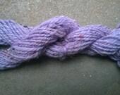Handspun Yarn: Lavender Merino and Sari Silk Tweed, bulky