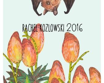 Fruit Bat + Mangoes - Archival Print