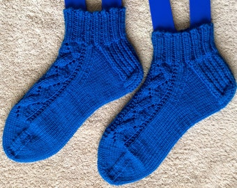 Handknit Ankle Socks - Knit Pick Shine Sport  (A103)