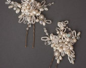 Albertine Pins   3 Crystal Cluster Hair Pins