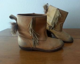 Vintage DAVY CROCKETT Cowboy Boots
