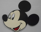 Mickey Mouse or Minnie Mouse Character Double Sided Die Cut  on a Stick Centerpiece Cake Topper Decoration You Pick One