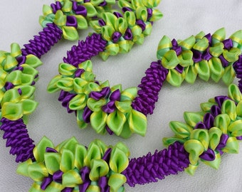 Sweet lime ribbon lei
