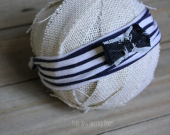 Newborn Navy Prop Headband RTS