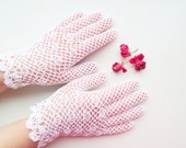Crochet white lace gloves,victorian wedding,bridal accessory,vintage lace,crochet jewelry,summer fashion,evening dress,first communion glove