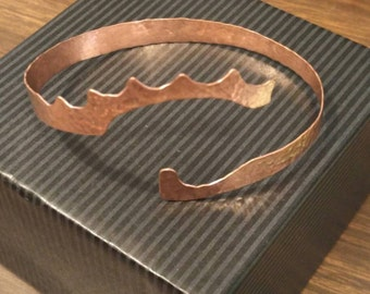 Freeform Hammered Copper Cuff