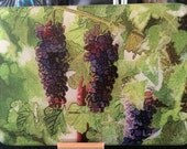 Glass Cutting Board - 3 Grapes - 7.75 in  x 10.75 in