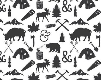 Crib Skirt The Woodcutter. Baby Bedding. Crib Bedding. Crib Skirt Boy. Baby Boy Nursery. Bear Crib Skirt. Woodland Nursery.