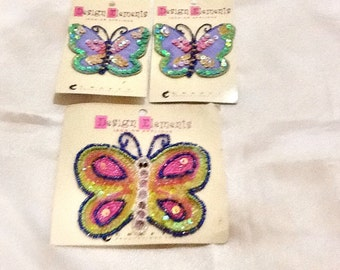 Butterfly appliqués , butterfly set , clothes appliqués , butterfly squeens appliqué