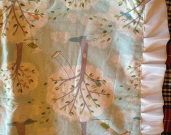 Grey Minky Whimsical Blanket