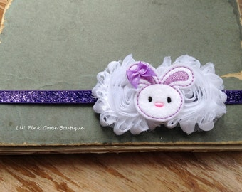 PURPLE EASTER Headband, Easter Headband, Baby Headbands, Headbands for Babies, Newborn Headband, Shabby Headband, Easter, Purple Headband