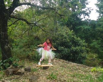 Skateboard style wooden swing / Sibling Swing / Standing swing board / Tree swing / Wiwiurka swing