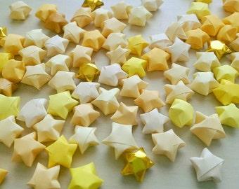 100 Assorted Yellow Origami Stars