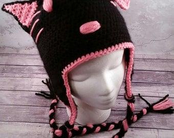 Hello Kitty hat, white or black