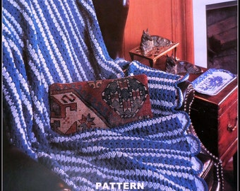 Crochet Afghan Pattern, Mile A Minute, Adult Throw Blanket, Lap Blanket Pattern