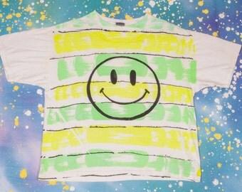 Next Wave '80s HAPPY FACE T-Shirt Size M