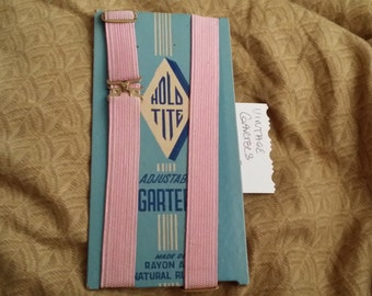 NOS Hold Tite Brand Pink Garters - Set of Two
