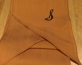 """Long Gold Initial """"S"""" Scarf"""