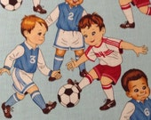 Soccer Quilting Fabric,  Alexander Henry Fabric, Fat Quarter