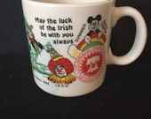 Mug 1992 International Shrine Clown Association Paul Griffie Griffin Irish Luck