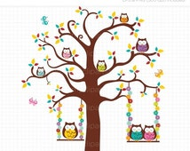 Unique Swinging Owls Related Items Etsy