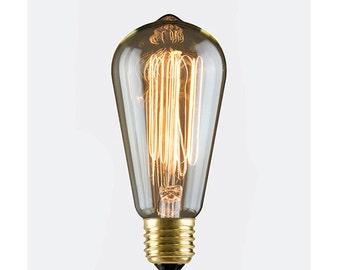 60W Nostalgia Era S-21 Antique Edison Style Squirrel Cage Filament Bulb