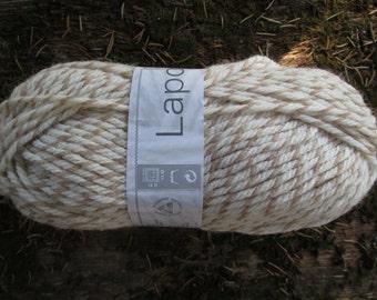SALE 30% Beige Cream  Laponie Yarn 100g  Wool Acryl