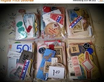 "HUGE SALE Vintage Ephemera Pack The 3 x 4"" Vegas Buffet 50 Piece"