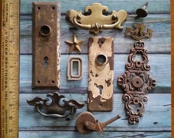 Antique Rusty Metal Hardware Assortment | Salvage Hardware Lot No.03